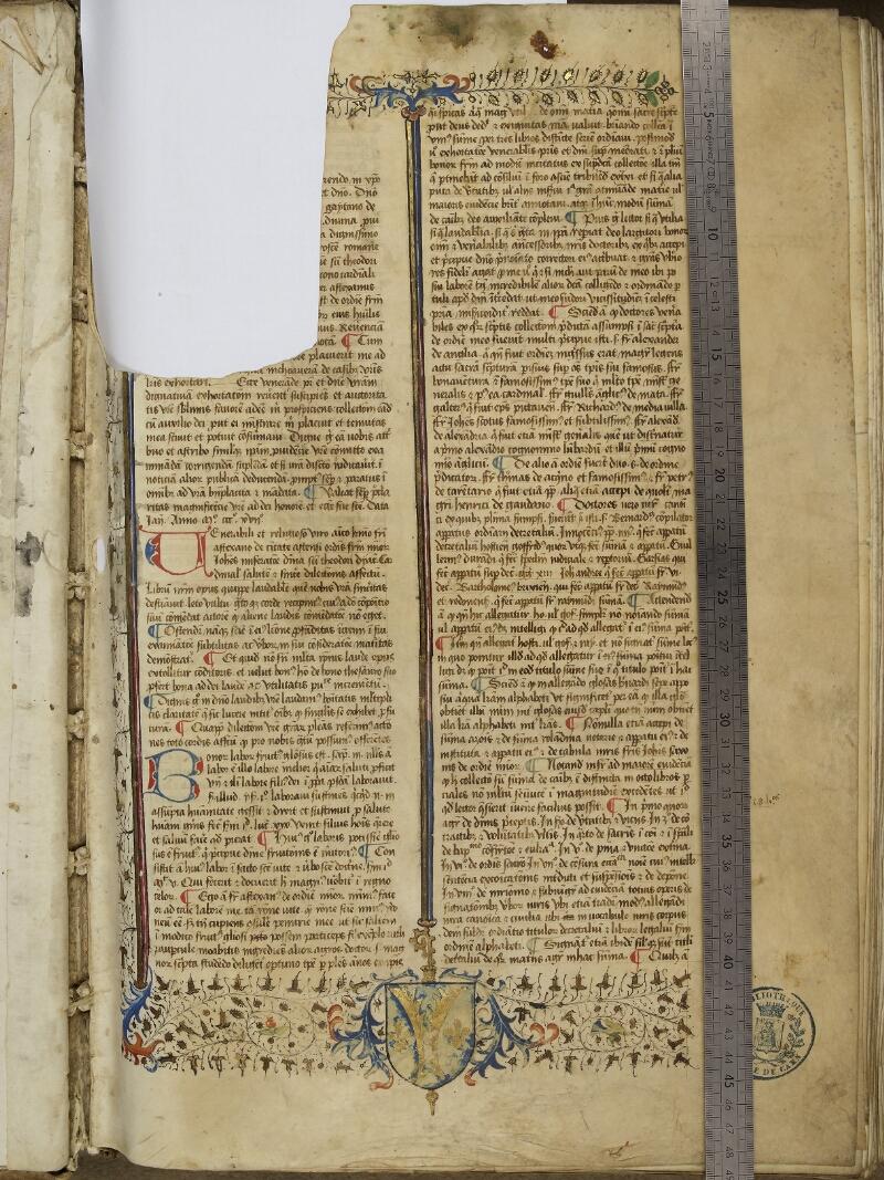 Caen, Bibl. mun., ms. 0036, f. 001- vue 1