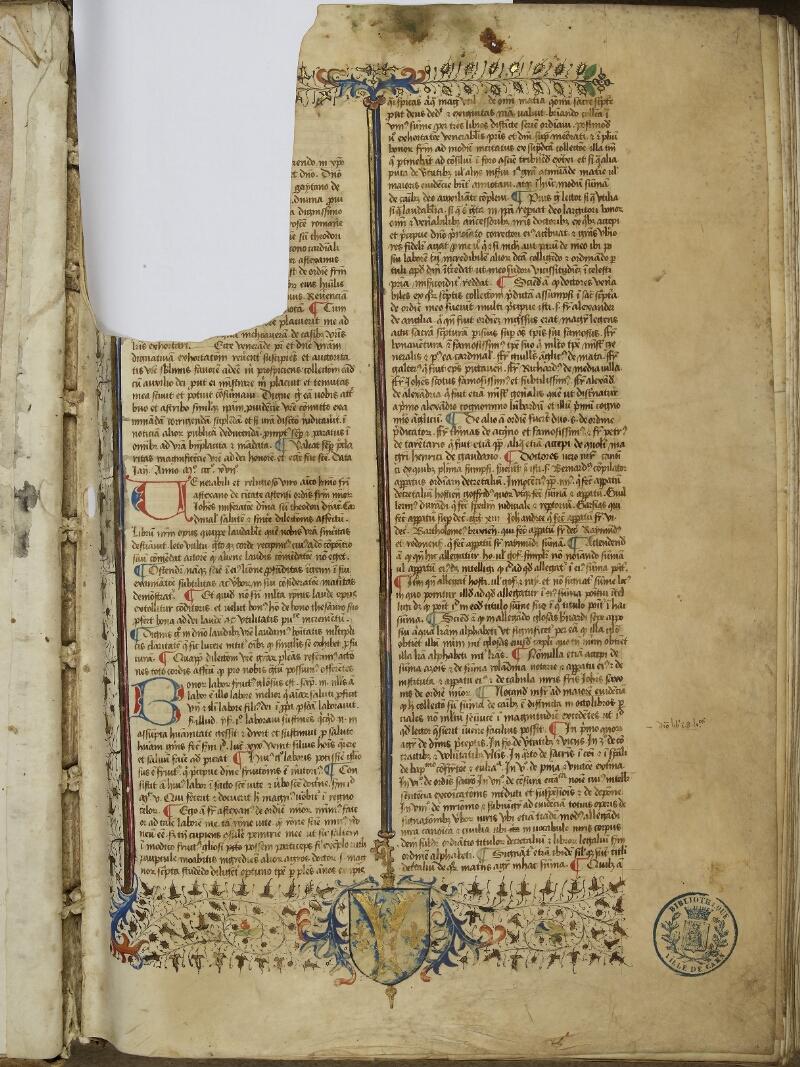 Caen, Bibl. mun., ms. 0036, f. 001- vue 2