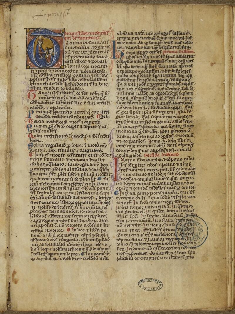Caen, Bibl. mun., ms. 0092, f. 001- vue 2