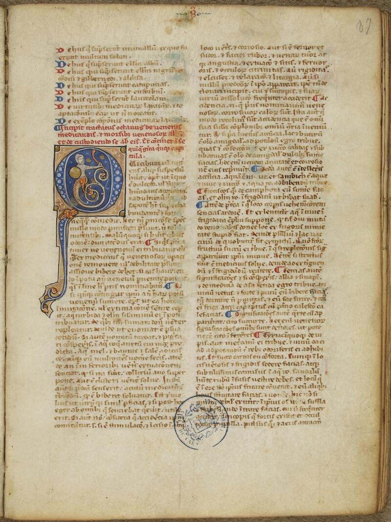 Caen, Bibl. mun., ms. 0092, f. 087