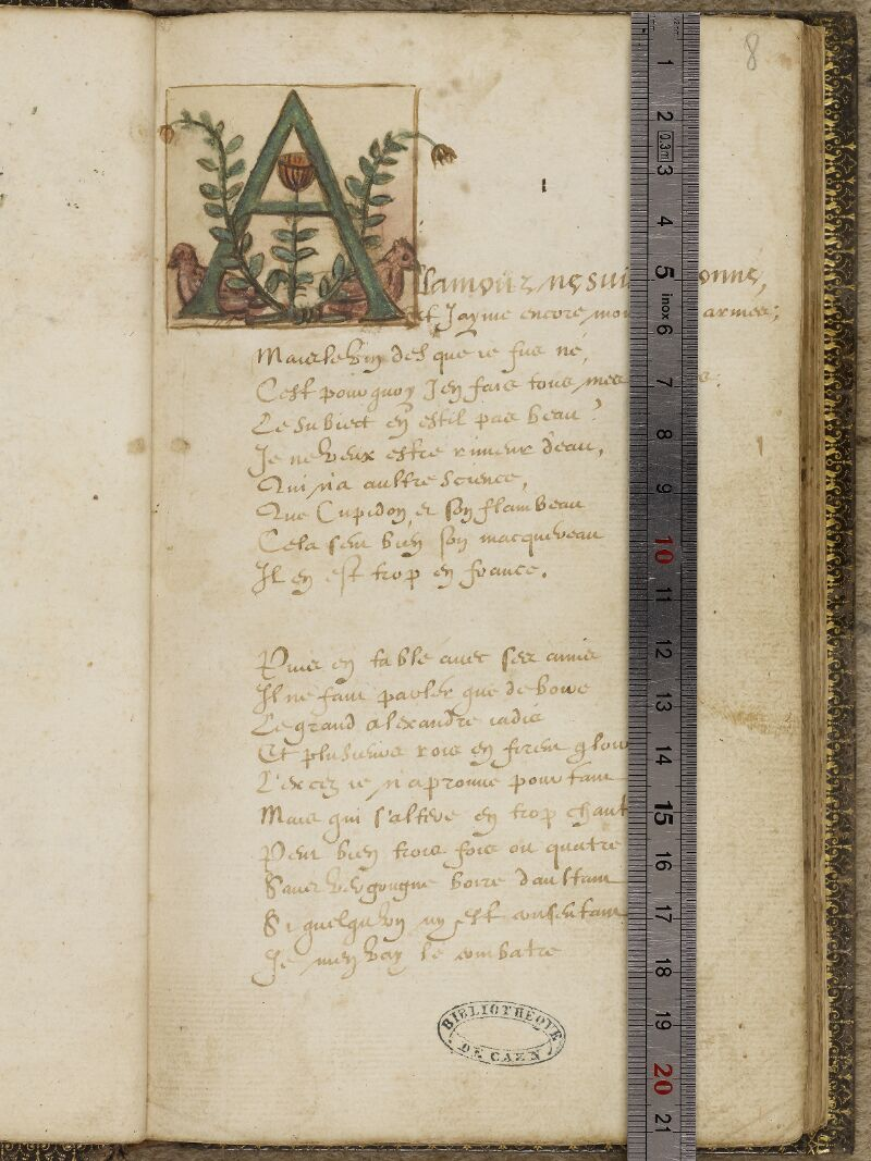 Caen, Bibl. mun., ms. 0207, f. 008 - vue 1