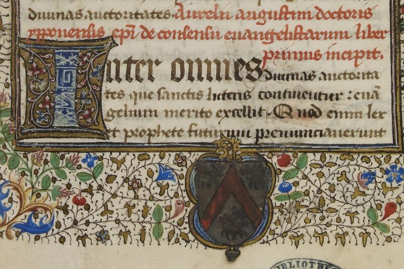 Caen, Bibl. mun., ms. 0026, f. 001 - vue 3