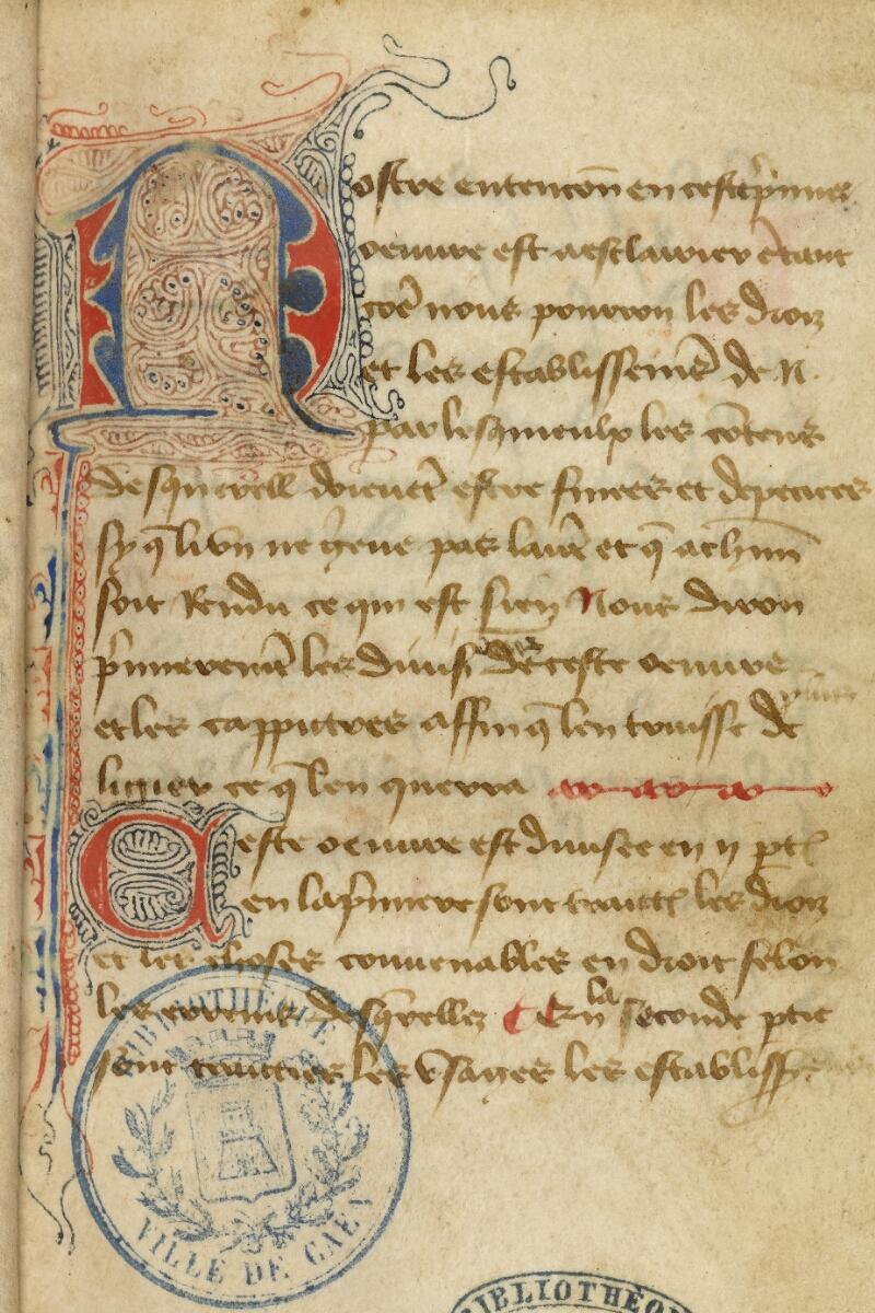 Caen, Bibl. mun., ms. 0056, f. 003 - vue 3