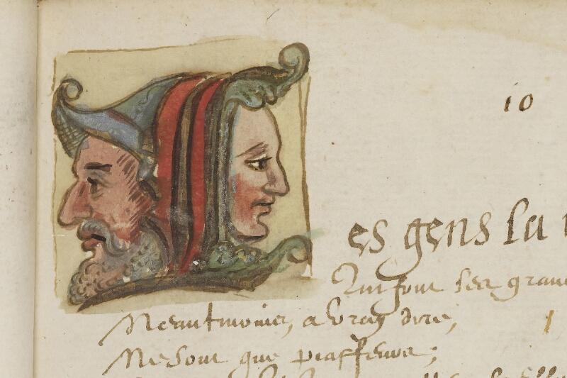 Caen, Bibl. mun., ms. 0207, f. 015 - vue 2