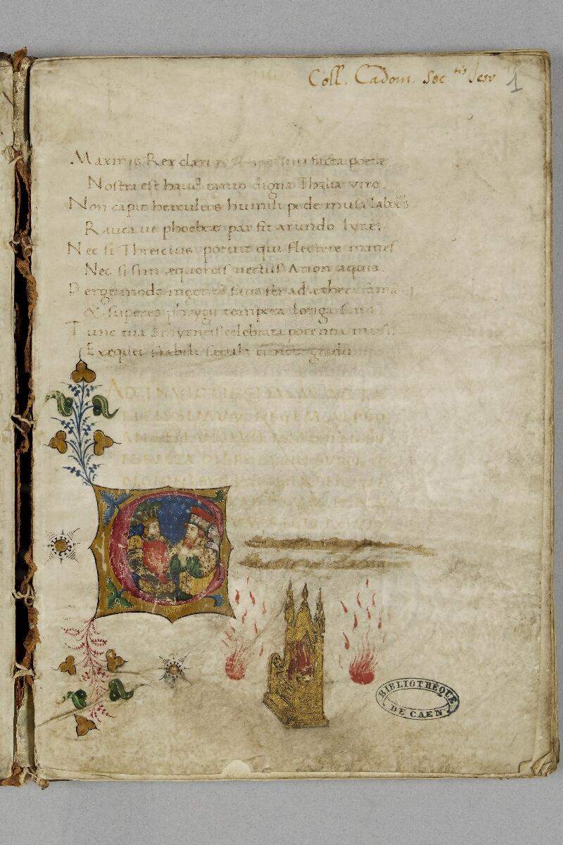 Caen, Bibl. mun., ms. 0343, f. 001 - vue 2