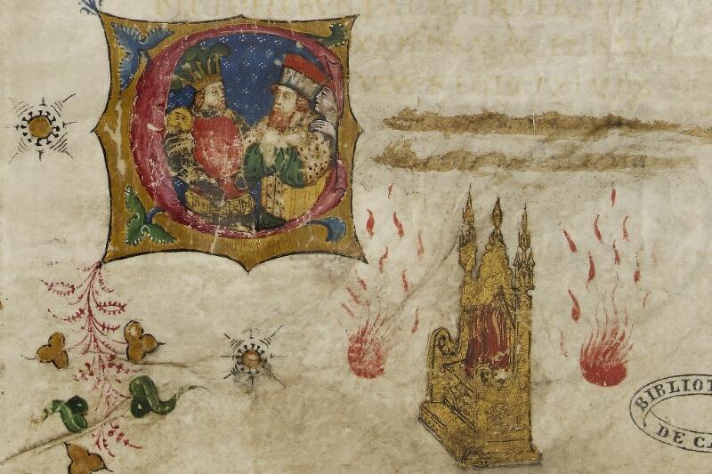 Caen, Bibl. mun., ms. 0343, f. 001 - vue 3