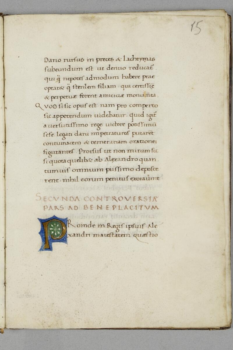 Caen, Bibl. mun., ms. 0343, f. 015 - vue 1