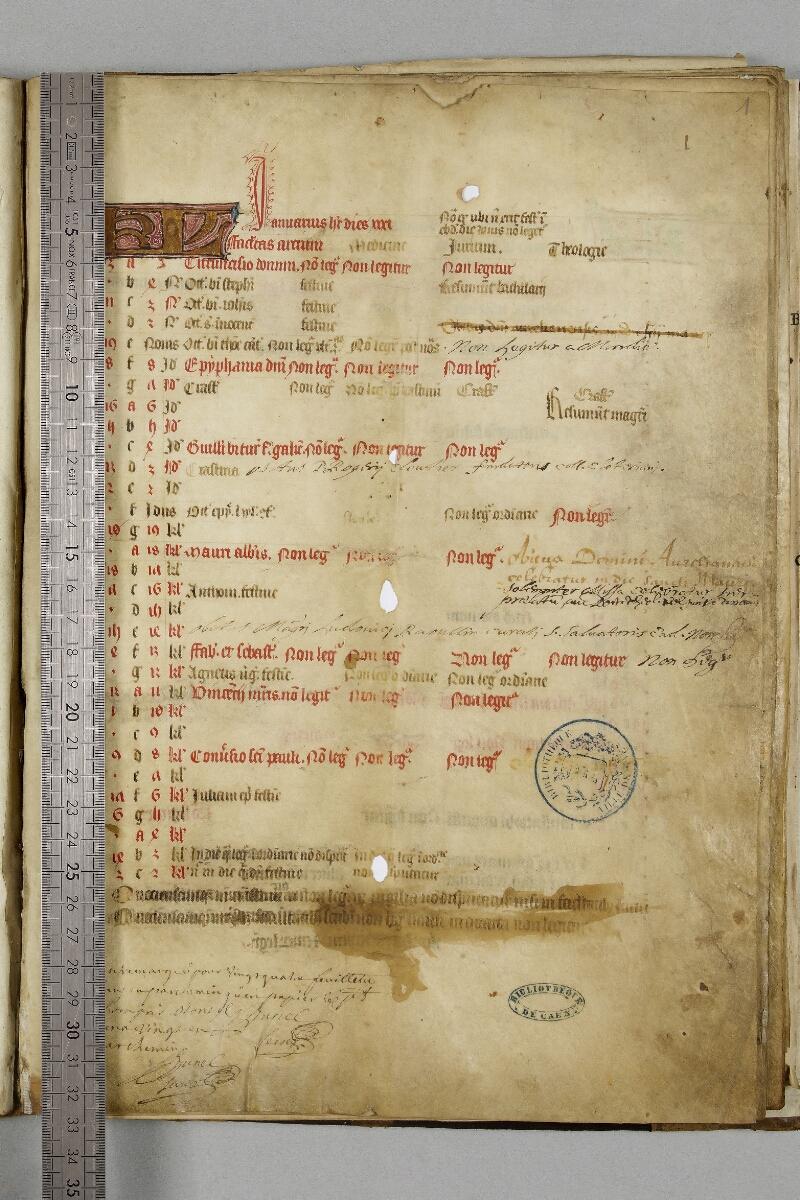 Caen, Bibl. mun., ms. 0446, f. 001 - vue 1