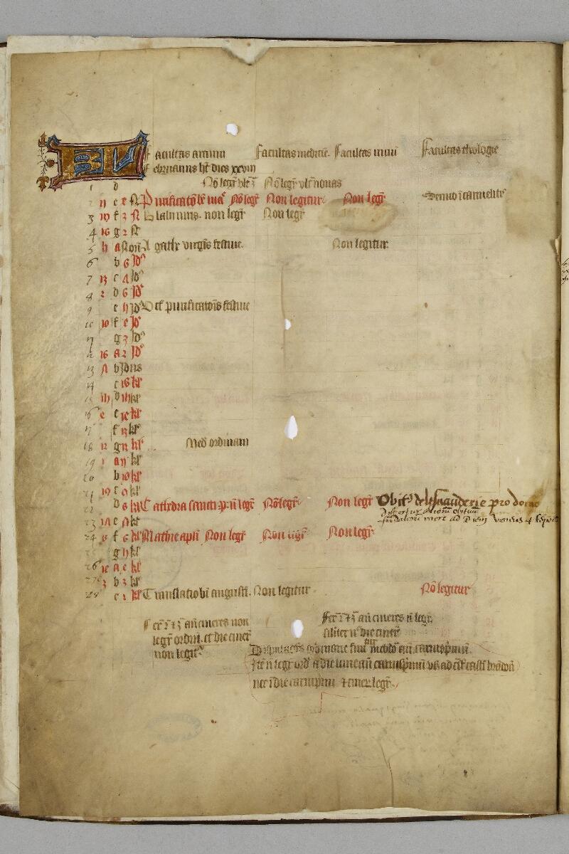 Caen, Bibl. mun., ms. 0446, f. 001v - vue 1