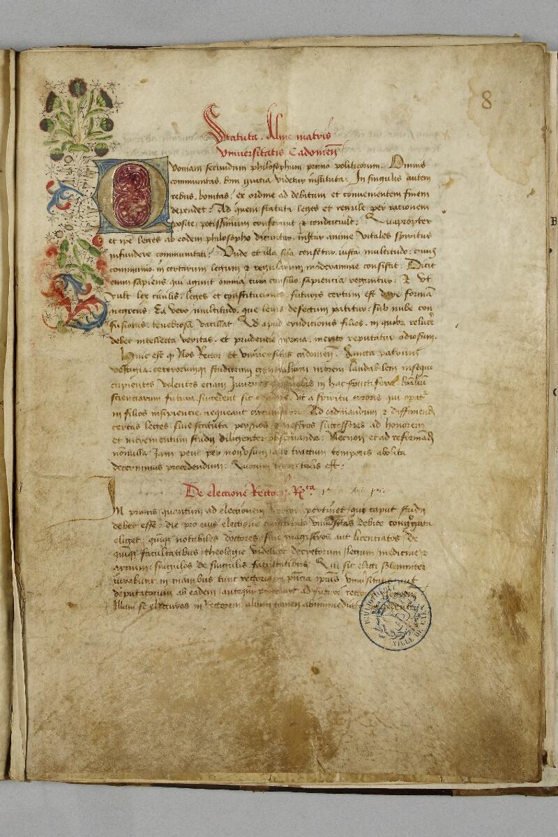 Caen, Bibl. mun., ms. 0446, f. 008 - vue 1