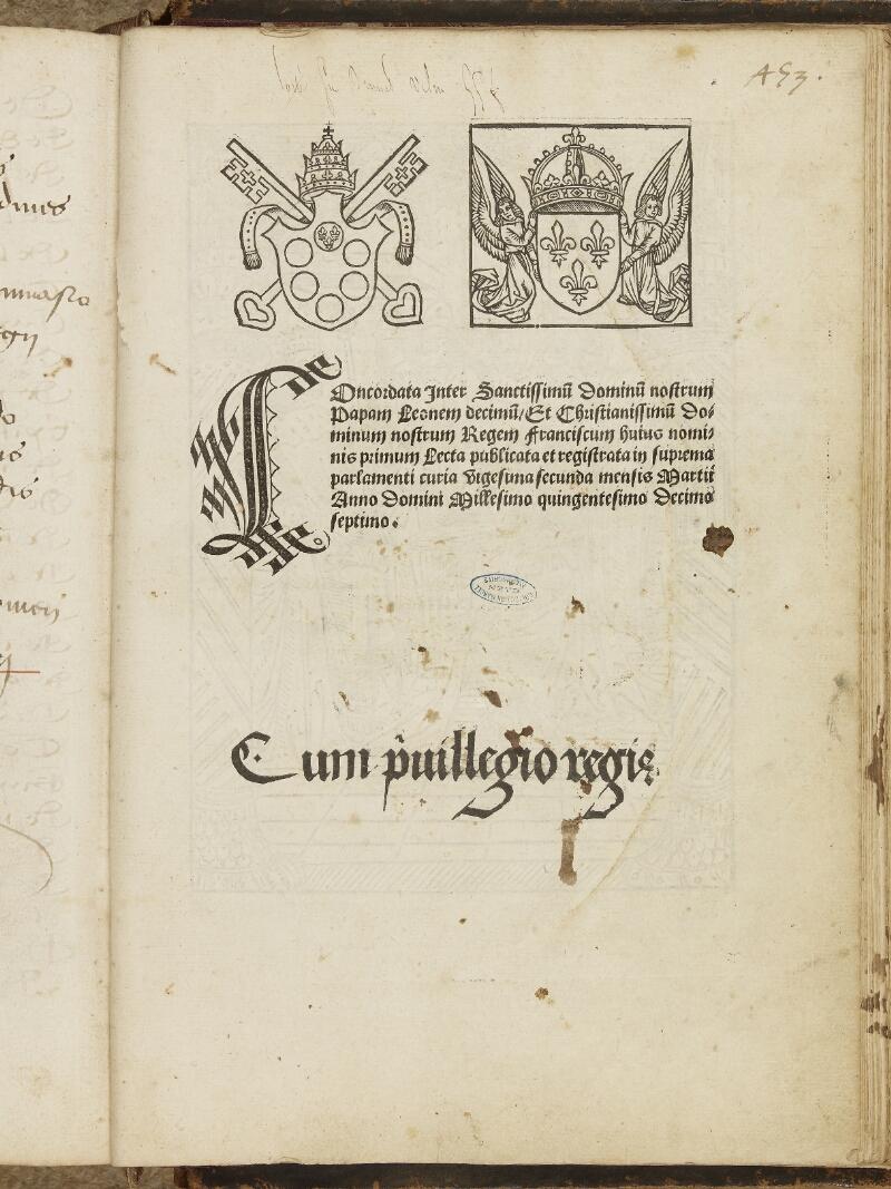 Caen, Musée, Coll. Mancel ms. 0068, f. 453