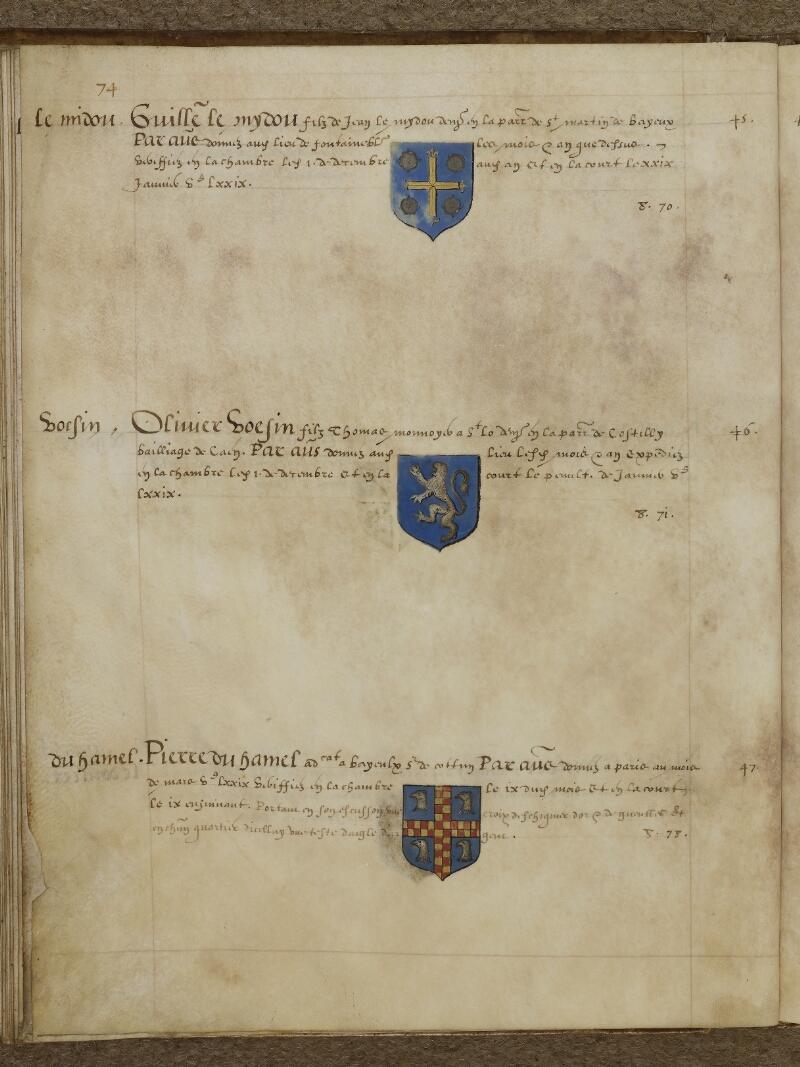 Caen, Musée, Coll. Mancel ms. 0156, f. 040v