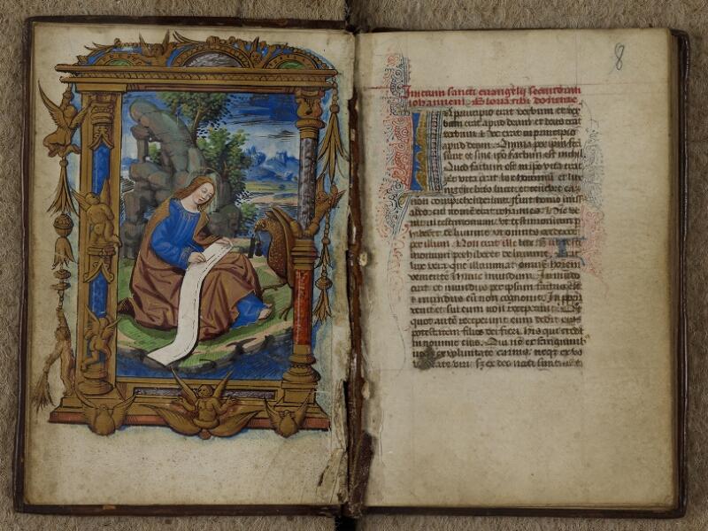 Caen, Musée, Coll. Mancel ms. 0238, f. 007v-008