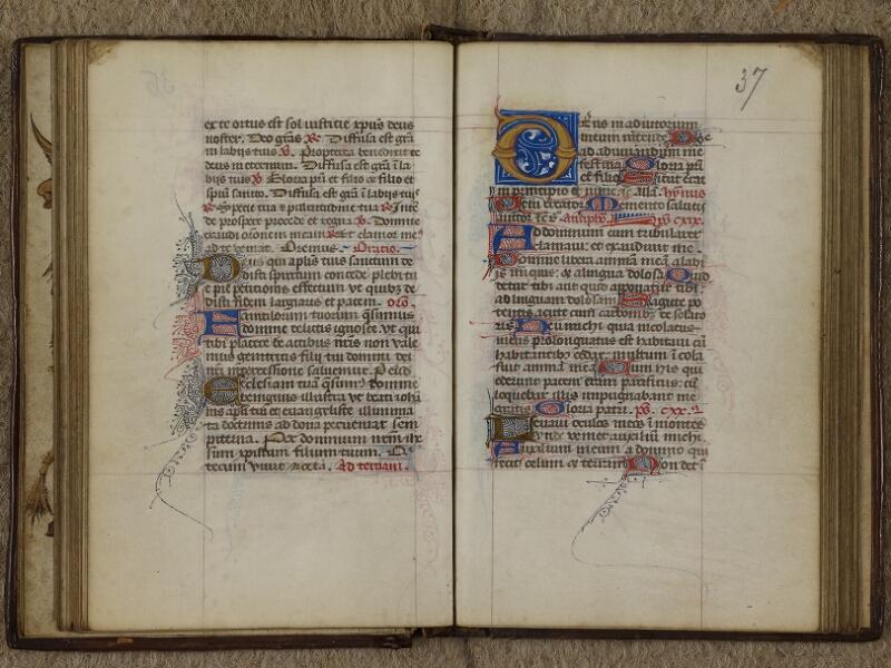 Caen, Musée, Coll. Mancel ms. 0238, f. 036v-037