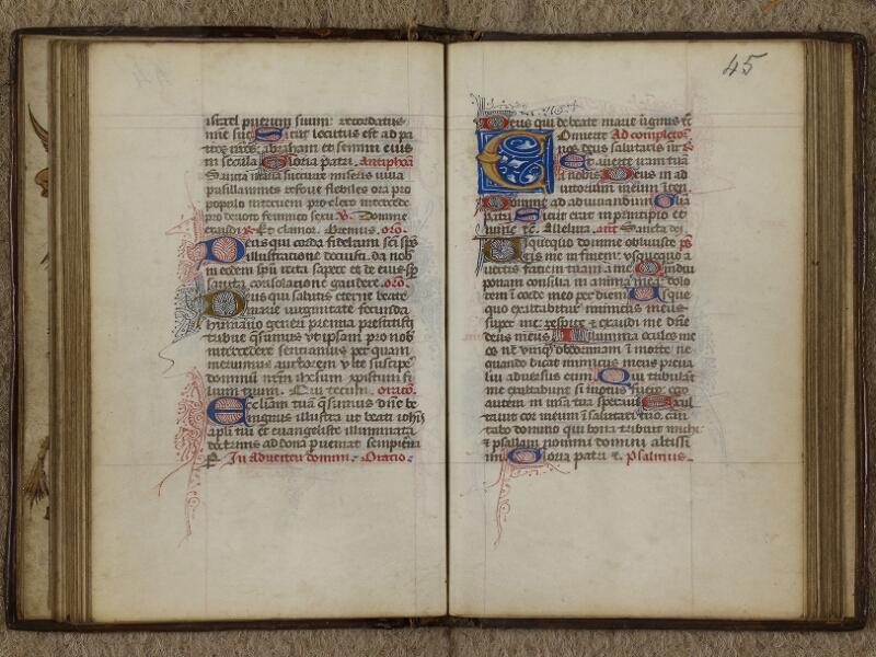 Caen, Musée, Coll. Mancel ms. 0238, f. 044v-045
