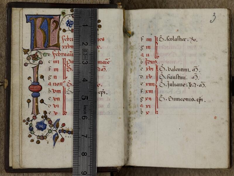 Caen, Musée, Coll. Mancel ms. 0241, f. 002v-003 - vue 1