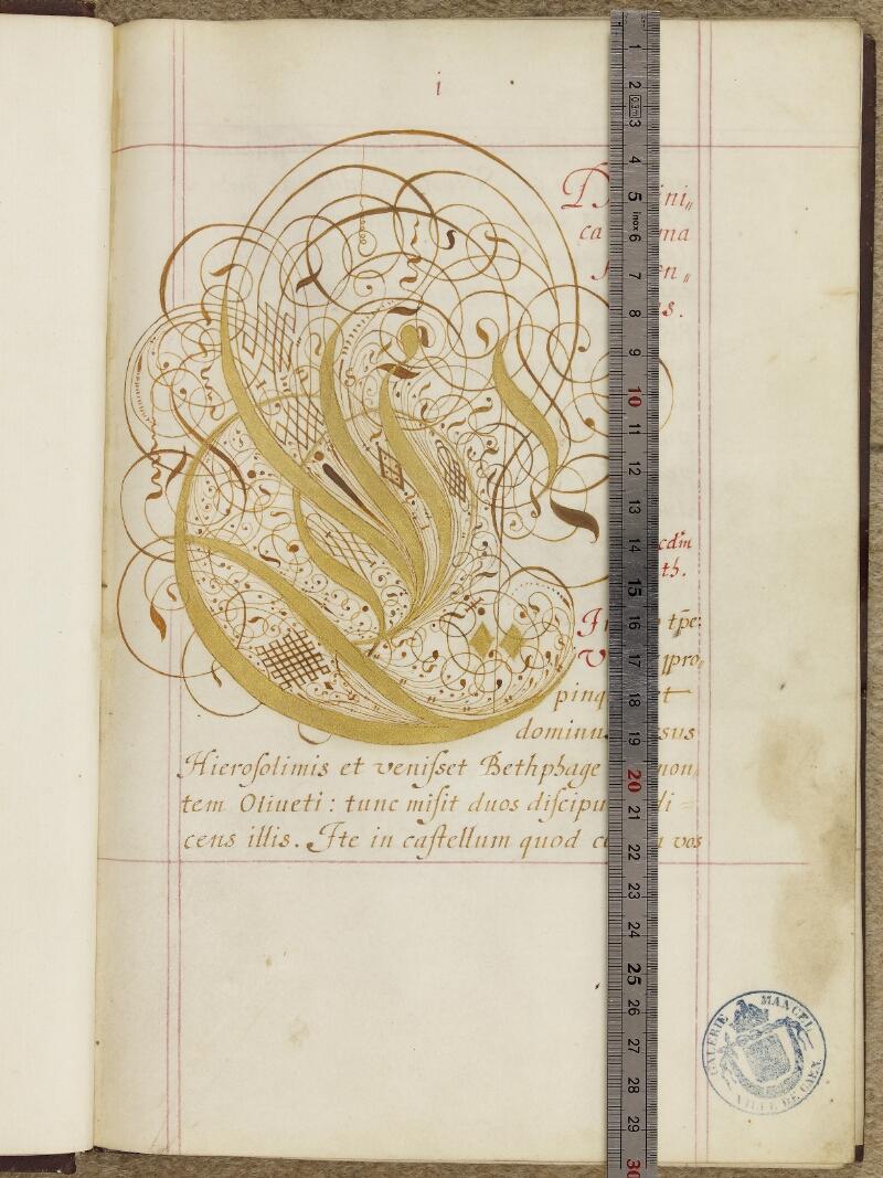 Caen, Musée, Coll. Mancel ms. 0243, f. 001- vue 1