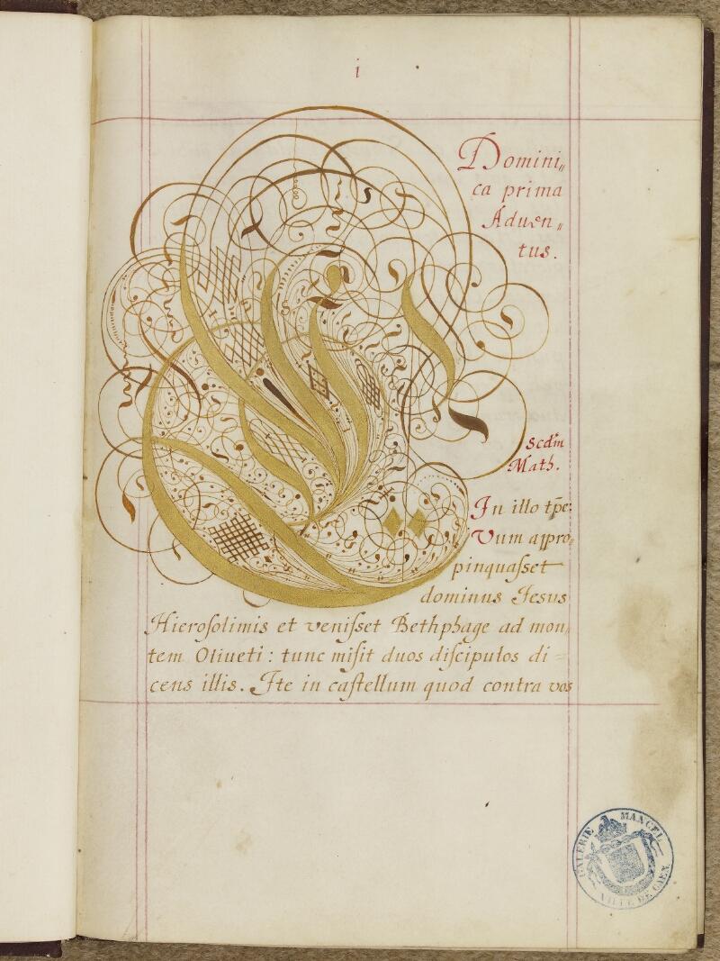Caen, Musée, Coll. Mancel ms. 0243, f. 001- vue 2