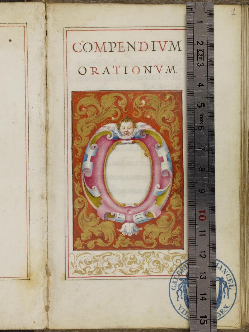 Caen, Musée, Coll. Mancel ms. 0244, f. 001- vue 1