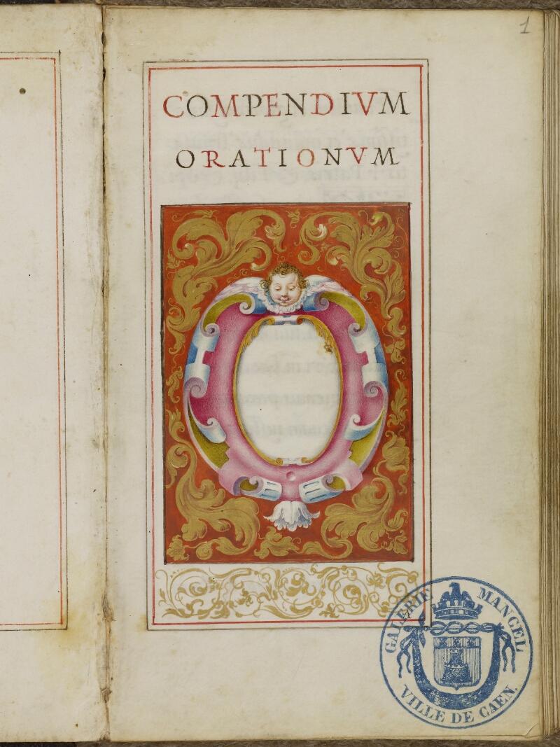 Caen, Musée, Coll. Mancel ms. 0244, f. 001- vue 2