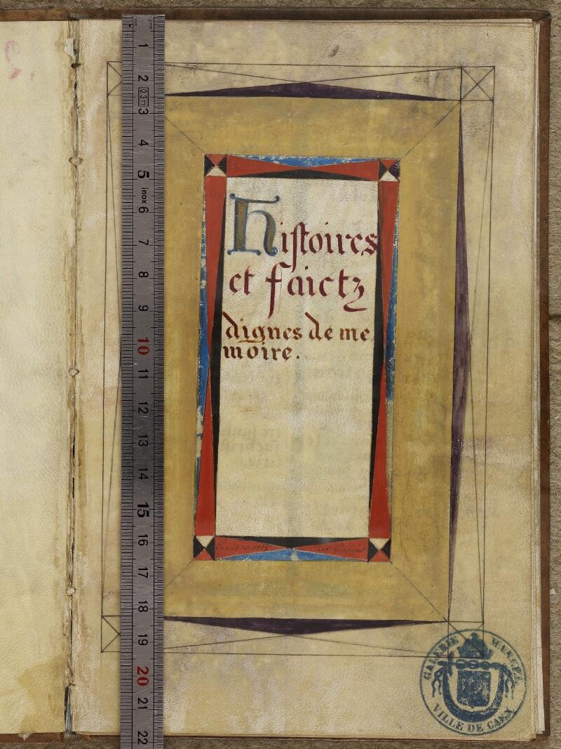 Caen, Musée, Coll. Mancel ms. 0258, f. 001- vue 1