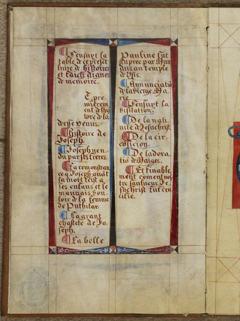 Caen, Musée, Coll. Mancel ms. 0258, f. 001v