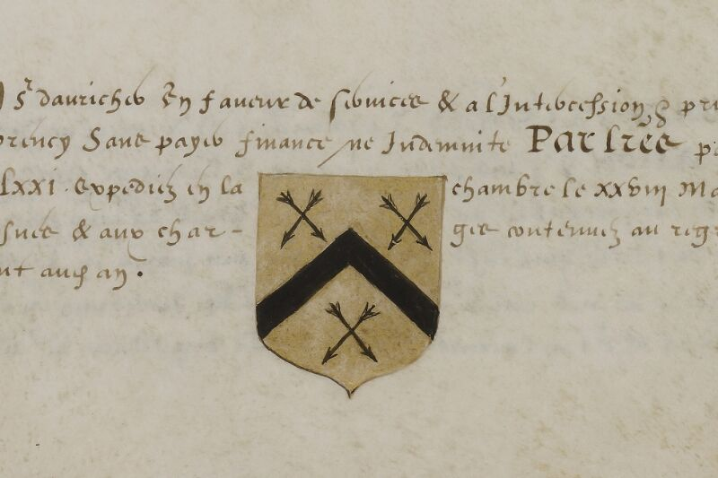 Caen, Musée, Coll. Mancel ms. 0156, f. 025v - vue 2