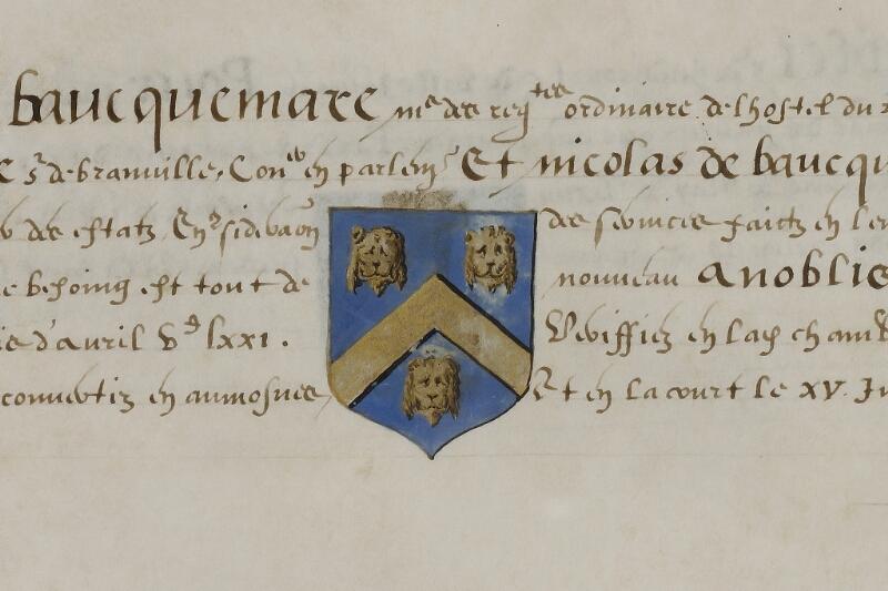 Caen, Musée, Coll. Mancel ms. 0156, f. 026 - vue 2