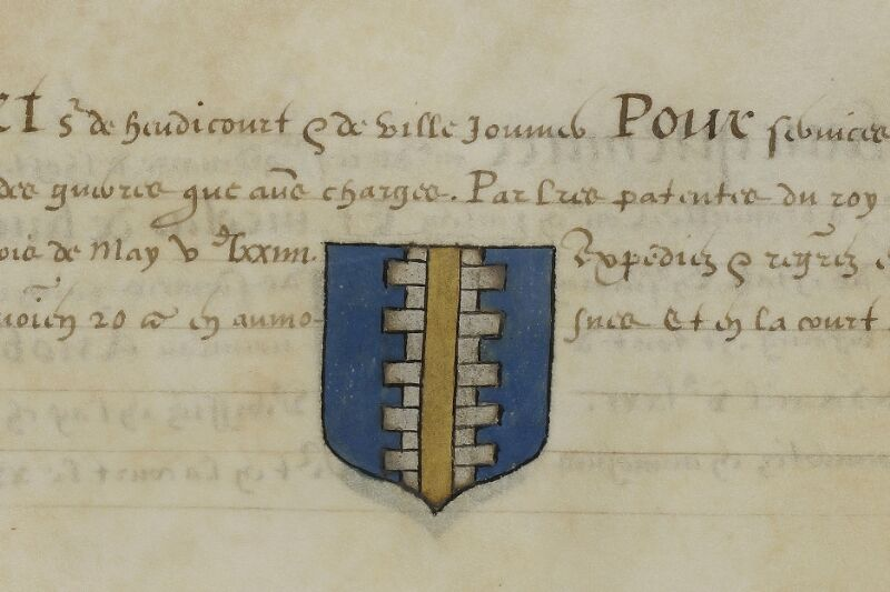 Caen, Musée, Coll. Mancel ms. 0156, f. 026v - vue 2