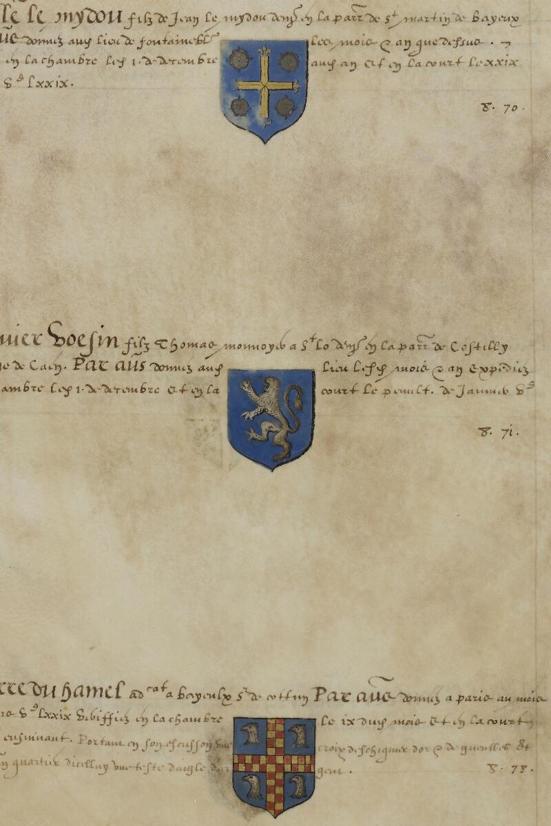Caen, Musée, Coll. Mancel ms. 0156, f. 040v - vue 2