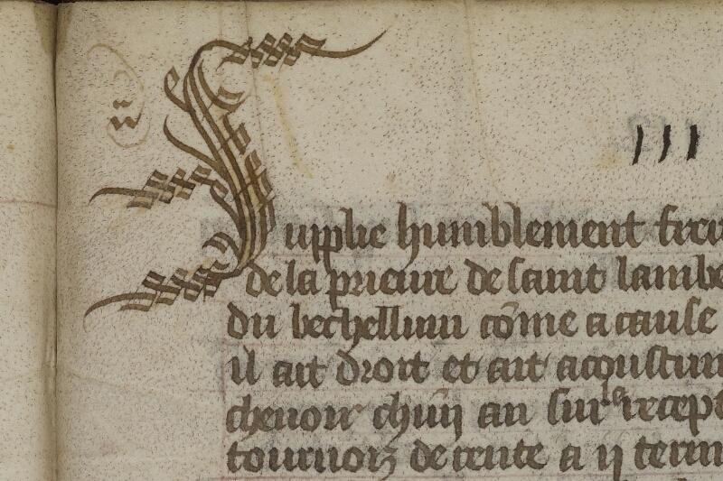 Caen, Musée, Coll. Mancel ms. 0200, p. 111 - vue 2