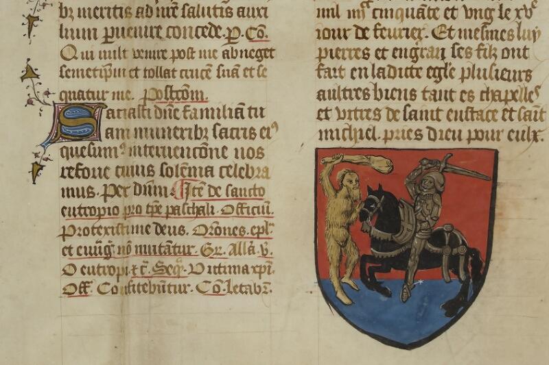 Caen, Musée, Coll. Mancel ms. 0237, f. 195 - vue 2