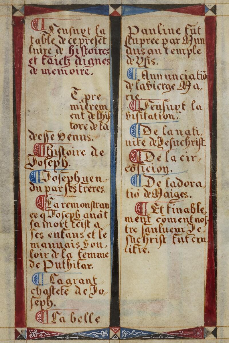 Caen, Musée, Coll. Mancel ms. 0258, f. 001v - vue 2