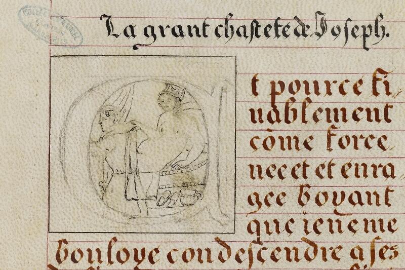 Caen, Musée, Coll. Mancel ms. 0258, f. 008v - vue 2