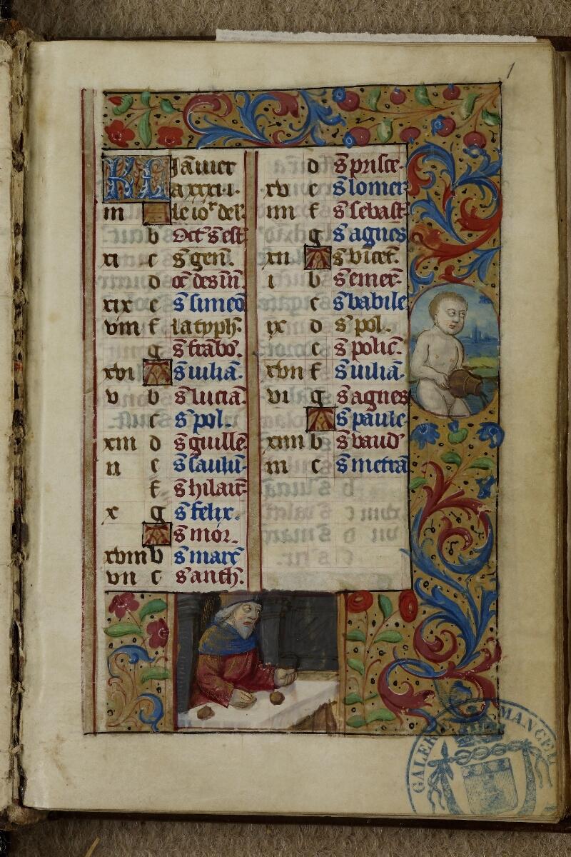 Caen, Musée, Coll. Mancel ms. 0240, f. 001 - vue 2
