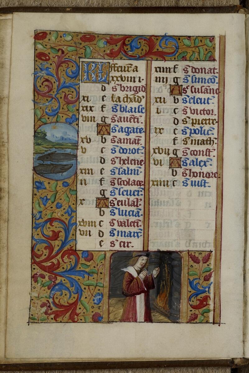 Caen, Musée, Coll. Mancel ms. 0240, f. 001v - vue 1