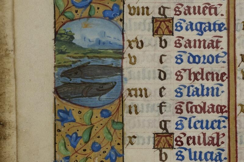 Caen, Musée, Coll. Mancel ms. 0240, f. 001v - vue 2