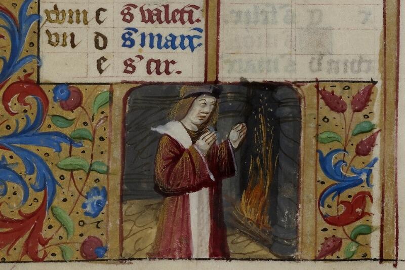Caen, Musée, Coll. Mancel ms. 0240, f. 001v - vue 3