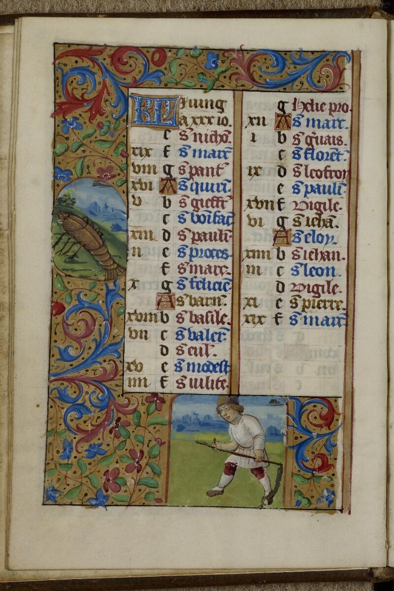 Caen, Musée, Coll. Mancel ms. 0240, f. 003v - vue 1