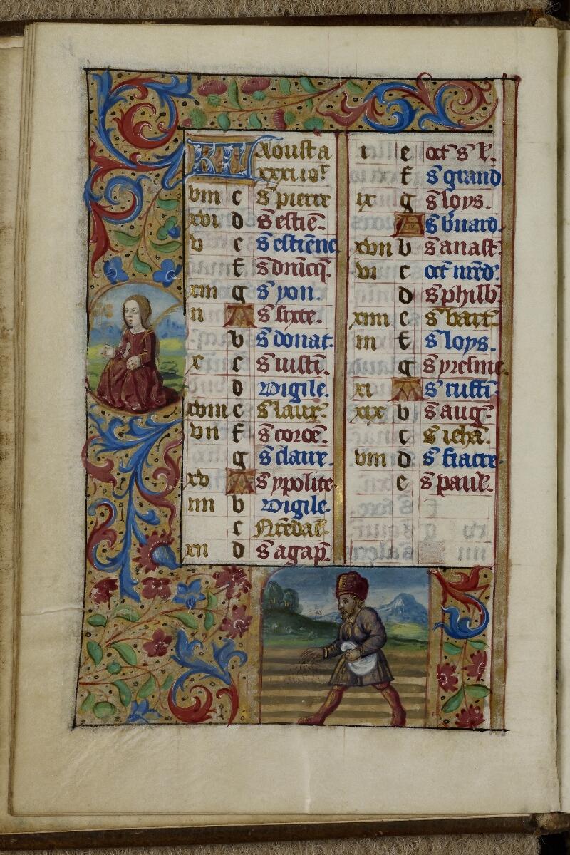 Caen, Musée, Coll. Mancel ms. 0240, f. 004v - vue 1