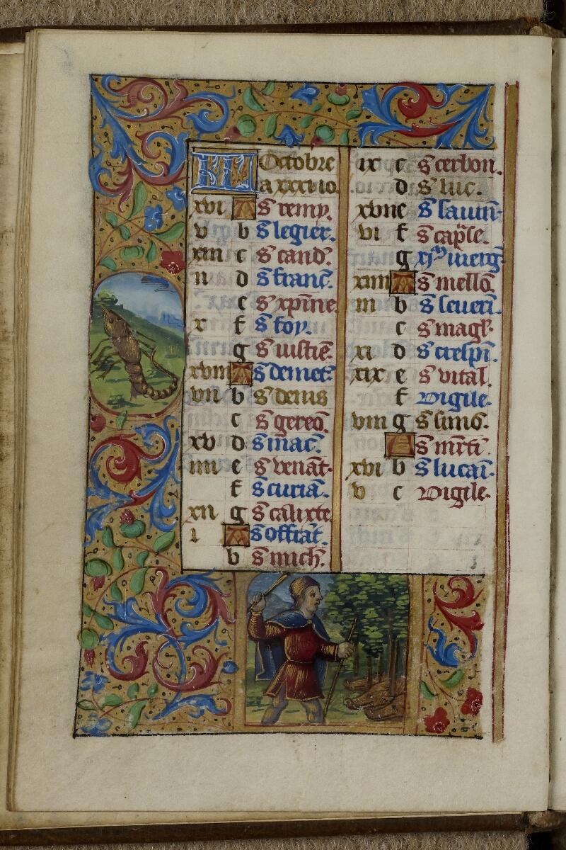 Caen, Musée, Coll. Mancel ms. 0240, f. 005v - vue 1