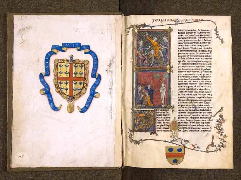 CHANTILLY, Bibliothèque du château, 0005 (1045 bis), contregarde - f. 001v