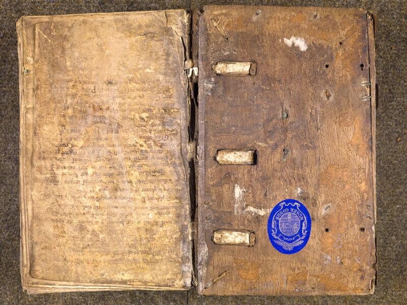 CHANTILLY, Bibliothèque du château, 0007 (1345), contreplat supérieur - garde