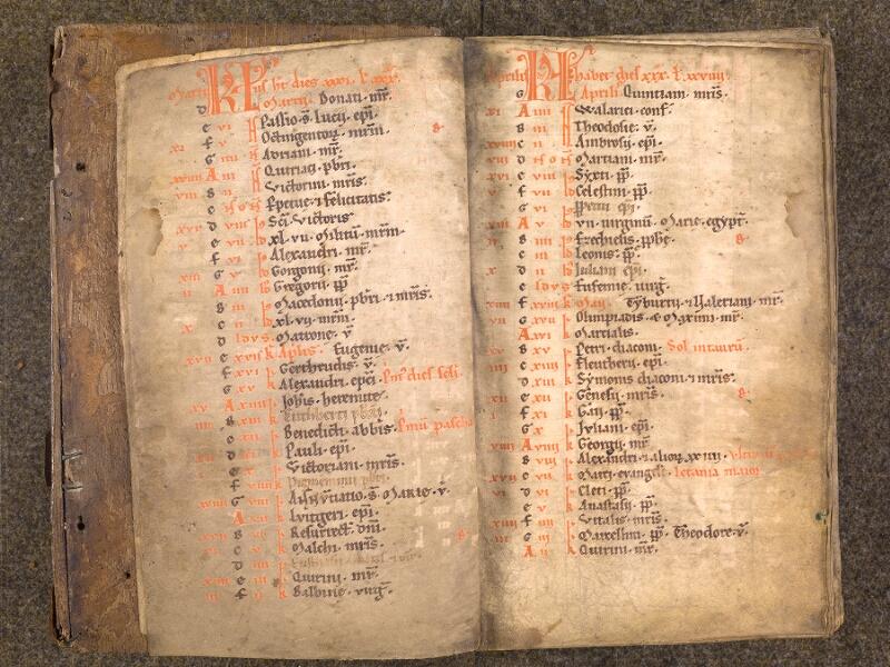 CHANTILLY, Bibliothèque du château, 0007 (1345), f. 001v - 002  avec réglet