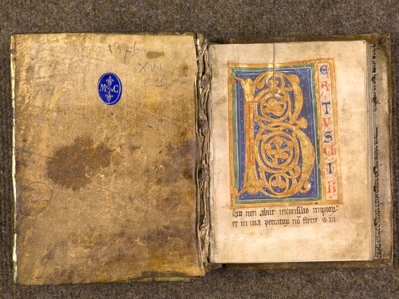 CHANTILLY, Bibliothèque du château, 0008 (1376), contreplat supérieur - f. 001
