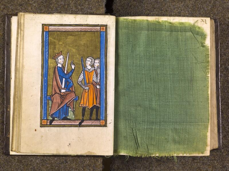 CHANTILLY, Bibliothèque du château, 0010 (1453), f. 010v - feuille de soie