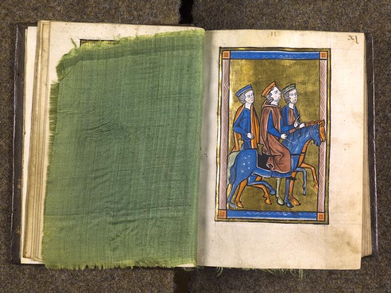 CHANTILLY, Bibliothèque du château, 0010 (1453), feuille de soie - 011