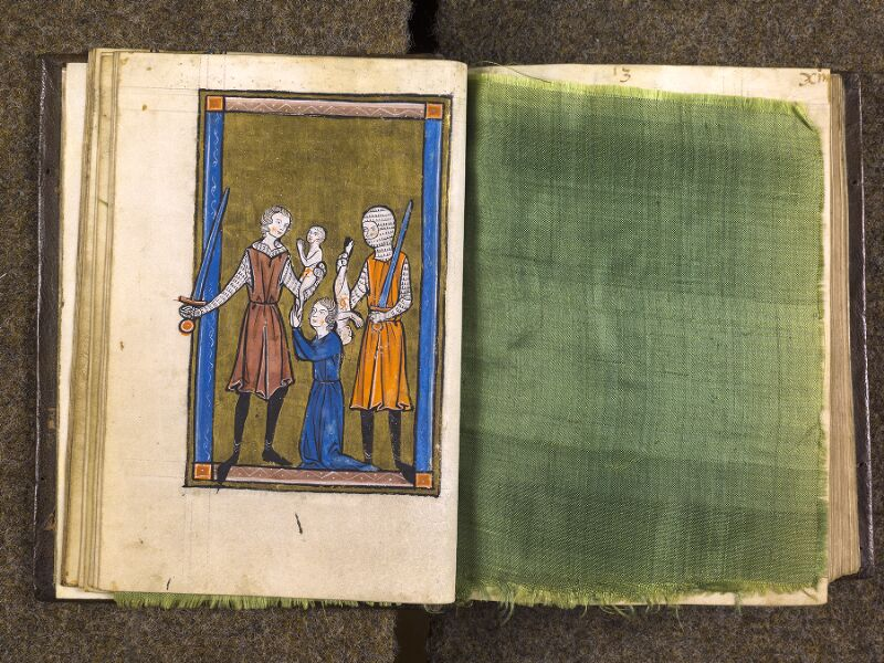 CHANTILLY, Bibliothèque du château, 0010 (1453), f. 012v - feuille de soie