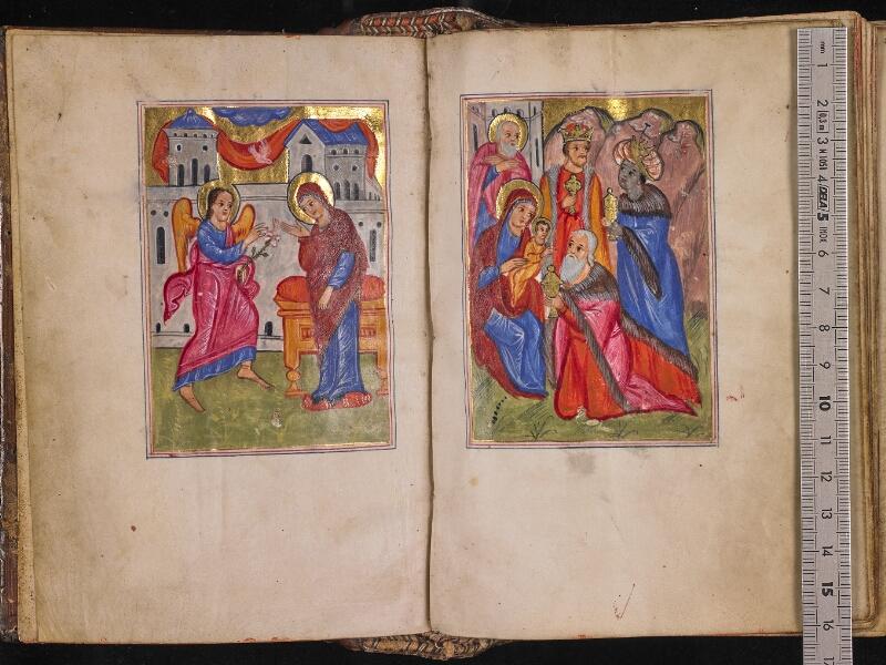 CHANTILLY, Bibliothèque du château, 0013 (1346), f. 001v - 002 avec réglet