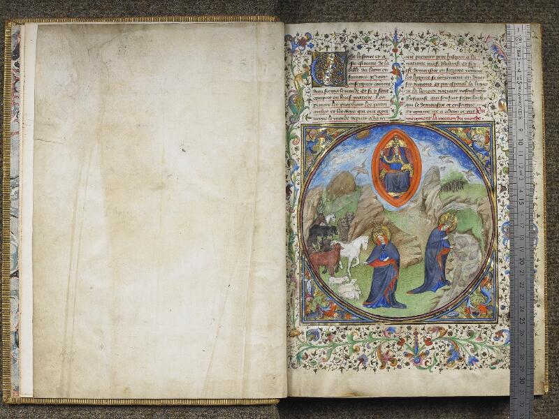 CHANTILLY, Bibliothèque du château, 0028 (1378), f. 000Dv - 001 avec réglet